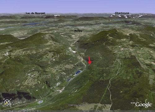 Vue panoramique de la Cluse des Hopitaux (Ain)