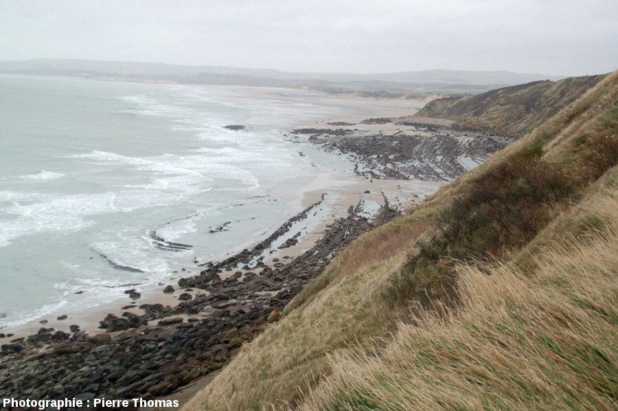 Vue de l'estran situé au Nord de la plage du Cap Gris-Nez (Pas de Calais)