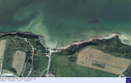 Image IGN de la plage du Cap Gris-Nez (Pas de Calais)