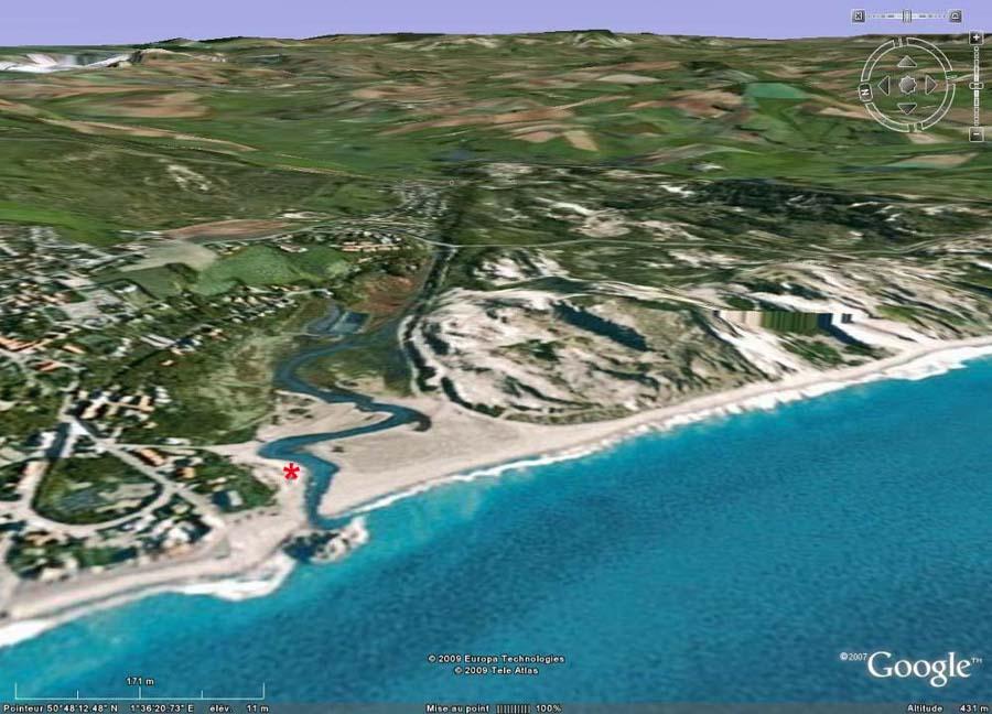 L'estuaire de la Slack à marée haute (Pas de Calais)