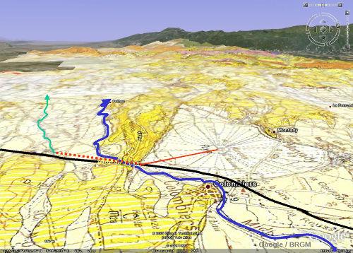 Contexte géologique des aménagements au Sud de l'étang de Montady (Hérault)