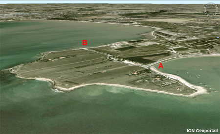 Vue aérienne de la Pointe du Chay, Angoulins, près de La Rochelle