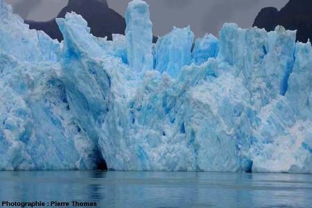 Le front du glacier de San Rafael, Patagonie chilienne