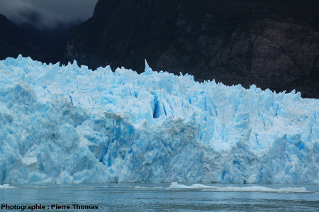 Forêt de séracs, front du glacier de San Rafael, Patagonie chilienne