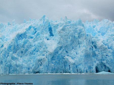 Front du glacier de San Rafael (Chili),