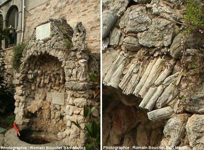 La fontaine à rudistes de la place centrale du Castellet (Var)