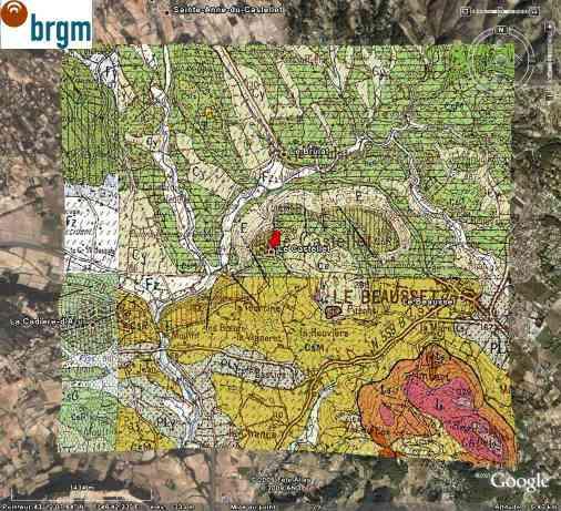 Géologie du secteur du Castellet (Var)