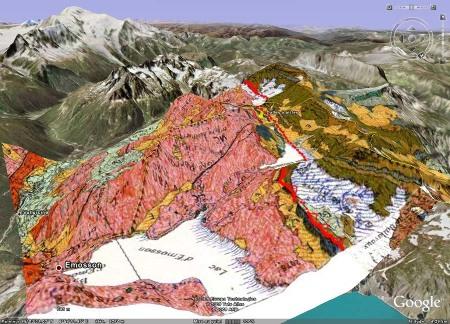 Carte géologique 3D du secteur des lacs d'Émosson (Suisse)