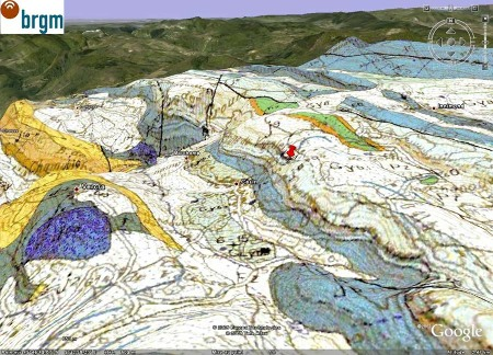 Localisation et géologie du site de Cerin (Ain)