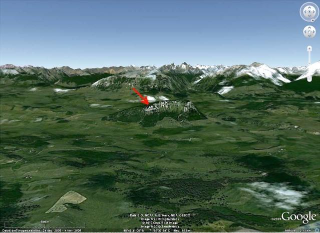 Localisation de l'affleurement, au pied oriental de la Cordillère des Andes, Région de Coihaique / Balmaceda, Patagonie chilienne