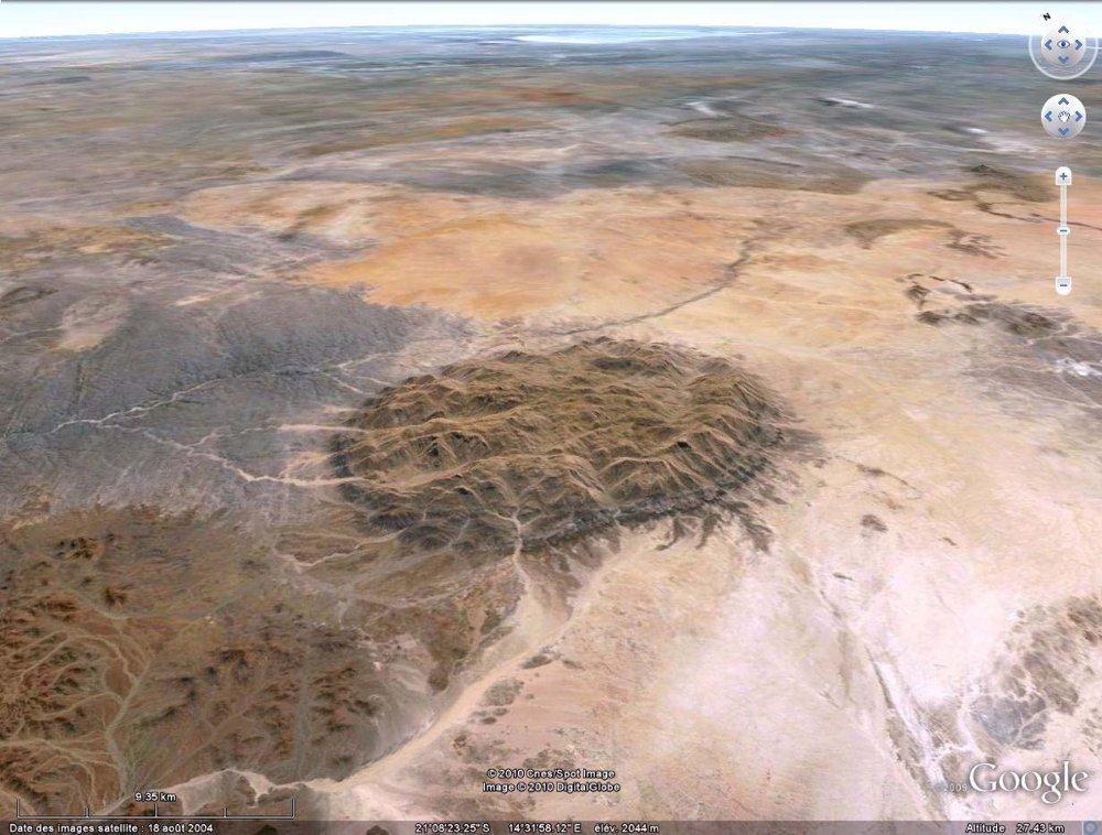 L'intrusion granitique du Brandsberg (Namibie)