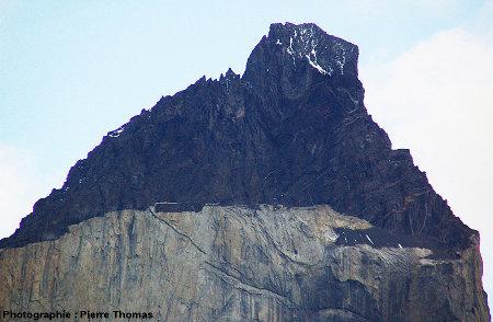 Le toit de l'intrusion granitique de Torres del Paine (Chili)