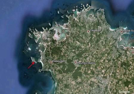 Localisation du complexe granitique de Ploumanac'h en Bretagne