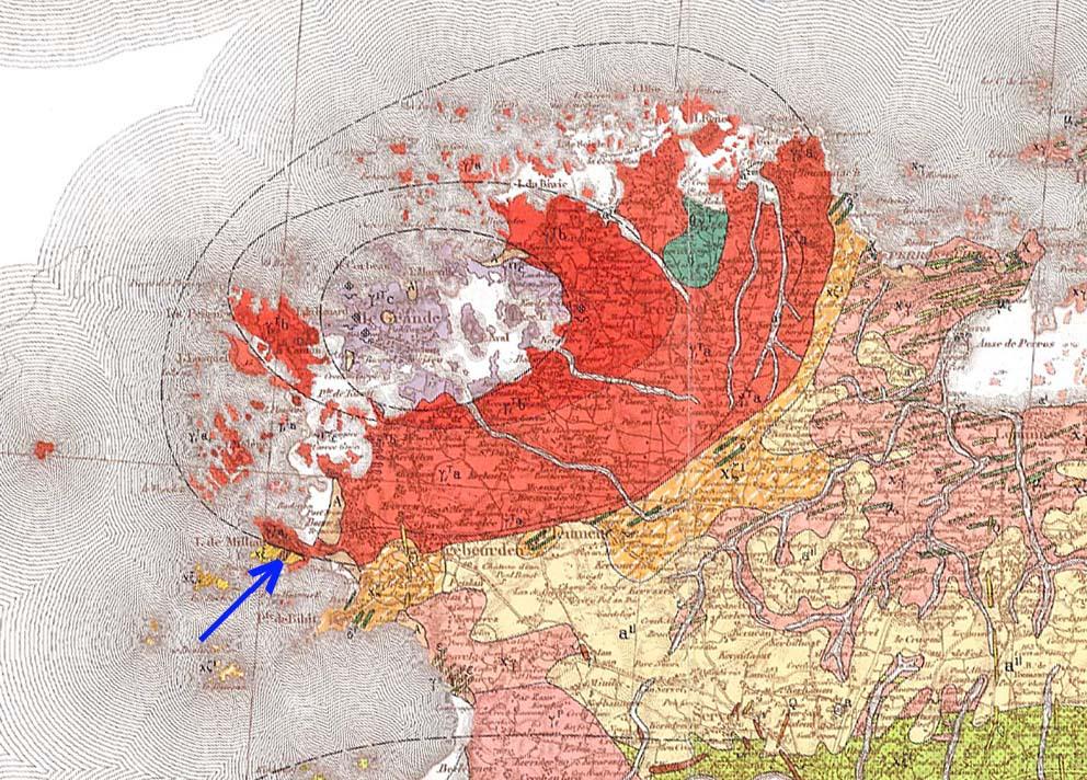 Carte géologique du complexe granitique de Ploumanac'h