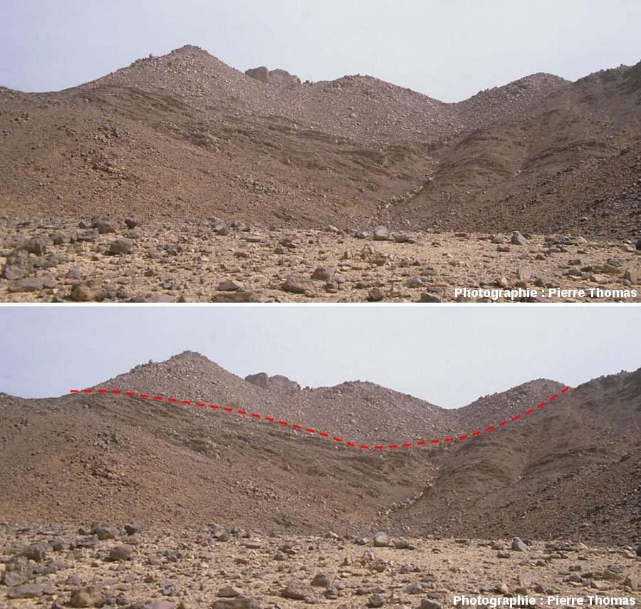 Contact inférieur entre un granite et son encaissant sédimentaire, quelque part dans le Sud algérien, pas trop loin du Tassili