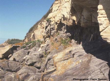 L'environnement géologique, au Sud de l'île Milliau, Trébeurden, Côtes d'Armor