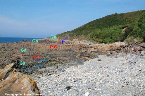 Vue d'ensemble de la partie orientale de la plage de Saint Jean du Doigt (Finistère)