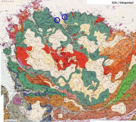 Carte géologique du secteur de Saint Jean du Doigt (Finistère)