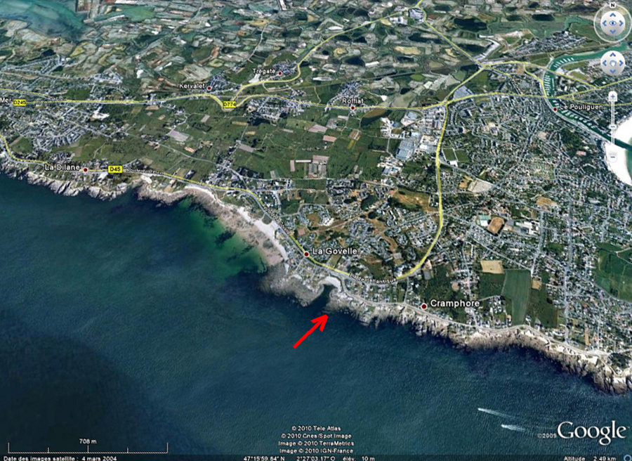 Localisation des affleurements de migmatites du Poulingen (Loire Atlantique)