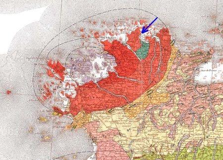 Extrait de la carte géologique 1/80000 de Lannion