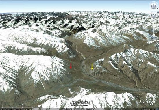 Localisation de la vallée de Sarchu, Himalaya, Ladakh (Inde)