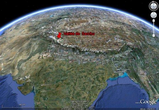 Localisation de l'HJimalaya et de la vallée de Sarchu, Ladakh (Inde)