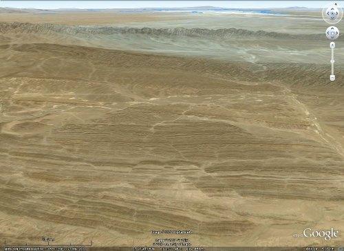 Image Google Earth des décrochements conjugués des figures 7 à 12, chaîne du Makran