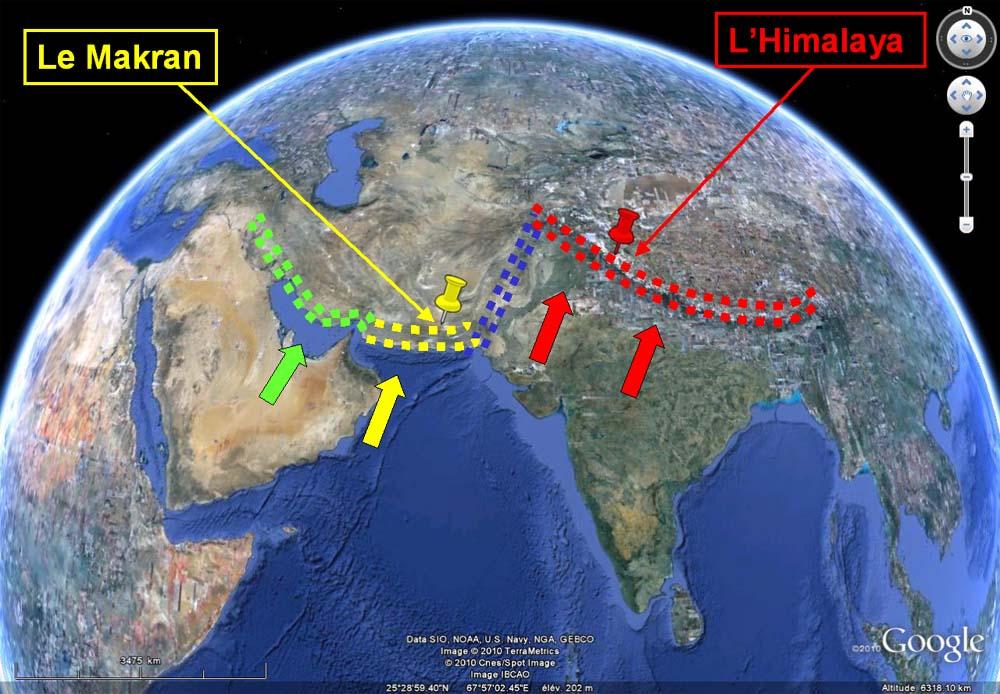 Contexte tectonique du secteur où se situent les faills normales des figures 1 à 4, Ladakh indien, Himalaya