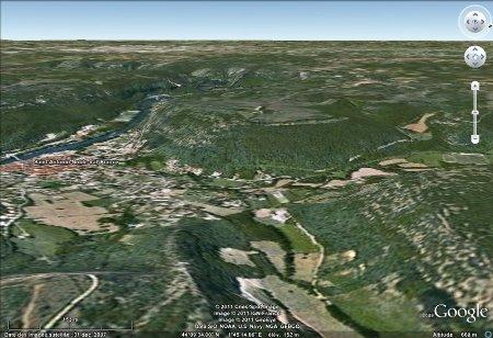 Paysage typique de la région de Saint-Antonin Noble-Val, Tarn et Garonne