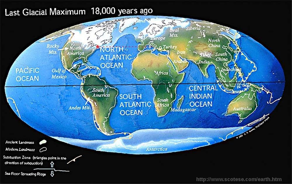 Reconstitution climatique du globe lors du dernier maximum glaciaire il y a 18000 ans