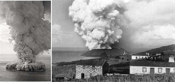 Éruption du Capelinhos en 1957-1958