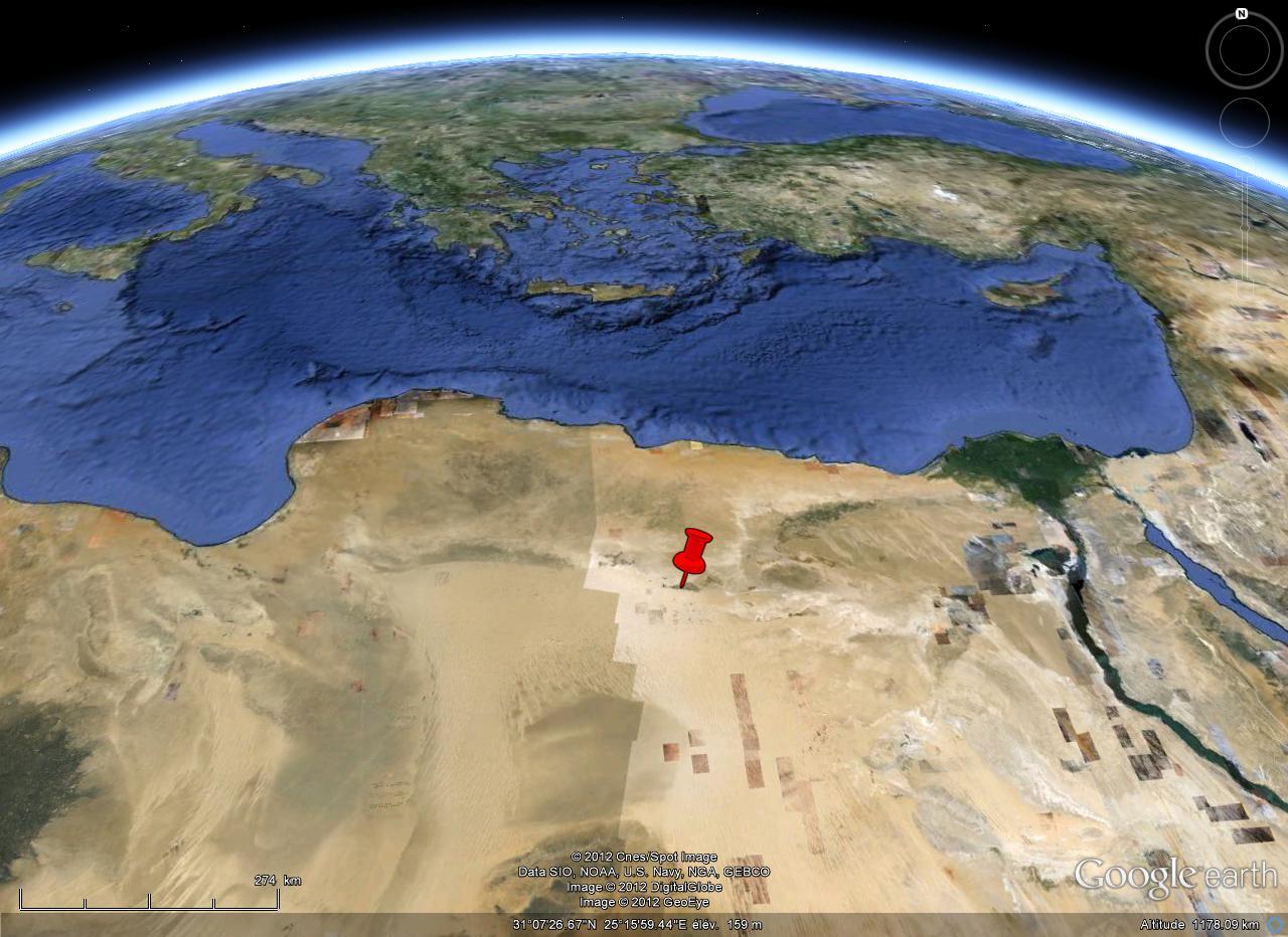 Localisation de l'oasis de Siwa dans le désert égyptien
