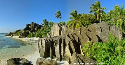 Érosion en rigoles de rochers granitiques, Seychelles