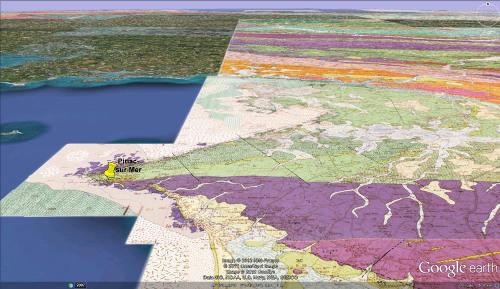 Carte géologique de la presqu'île de Piriac-sur-Mer