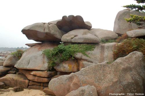 Autre chaos rocheux sur l''île Renote (Trégastel, Côtes d'Armor)