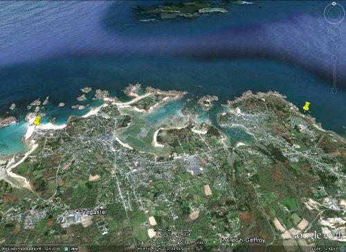 Partie orientale de la «côte de granite rose», entre Trégastel et Ploumanac'h