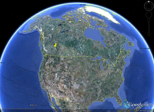 Localisation du glacier Edith Cavell, Parc National de Jasper, Canada