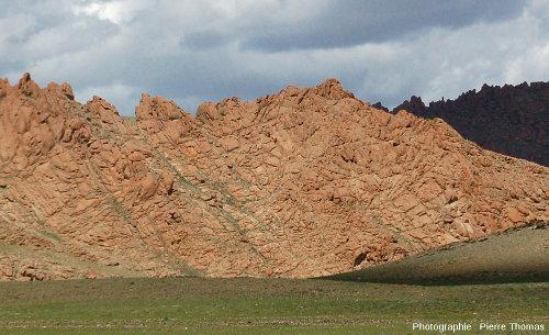 Paysage granitique caractéristique de l'Altaï mongol vers 3000m d'altitude