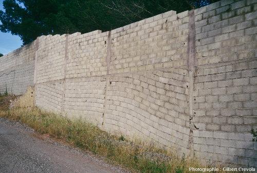 Affleurement montrant des discordances intra-anthropocènes, environs de Fréjus (Var)