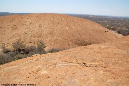 Vue partielle de l'inselberg granitique des Three Sisters, Afrique du Sud