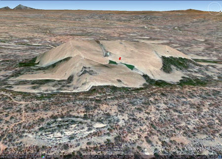 Vue de l'inselberg granitique des Three Sisters, Afrique du Sud