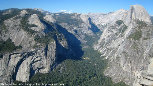 La vallée glaciaire de Yosemite, Yosemite National Park, massif de la Sierra Nevada, Californie