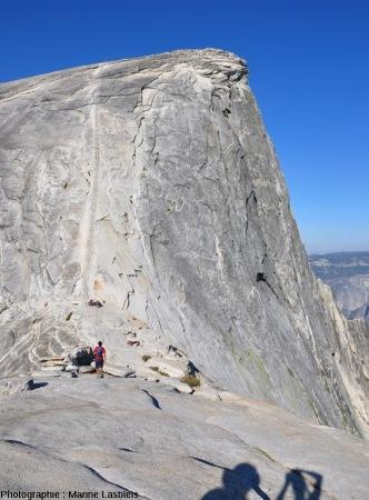 Le versant Nord-Est du Half Dome, Yosemite National Park, Californie,celui par lequel grimpent les visiteurs