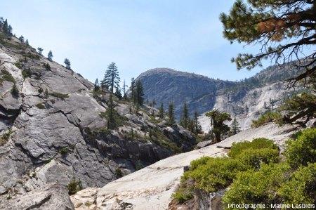 Dans le parc de Yosemite, des diaclases parallèles à la surface actuelle sont très nombreuses et visibles