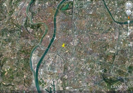Localisation de la place Saint Louis à Lyon