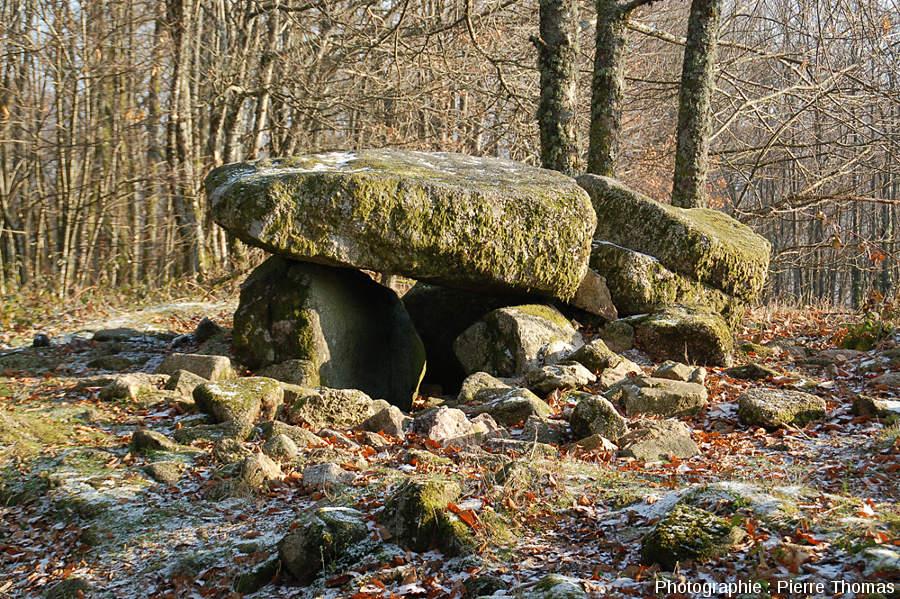 Dolmen des rochers de Puychaud, Blond, Haute Vienne