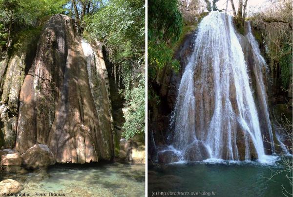 La cascade pétrifiante de Saint Pierre-Livron, Caylus, Tarn et Garonne