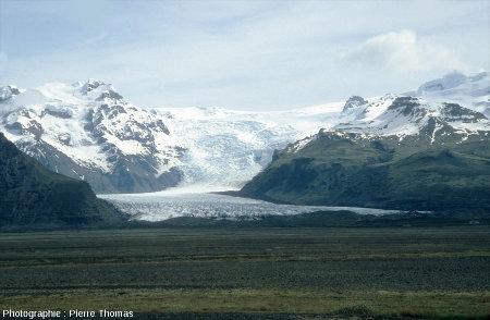 Vue d'ensemble d'une langue terminale du Vatnajökull