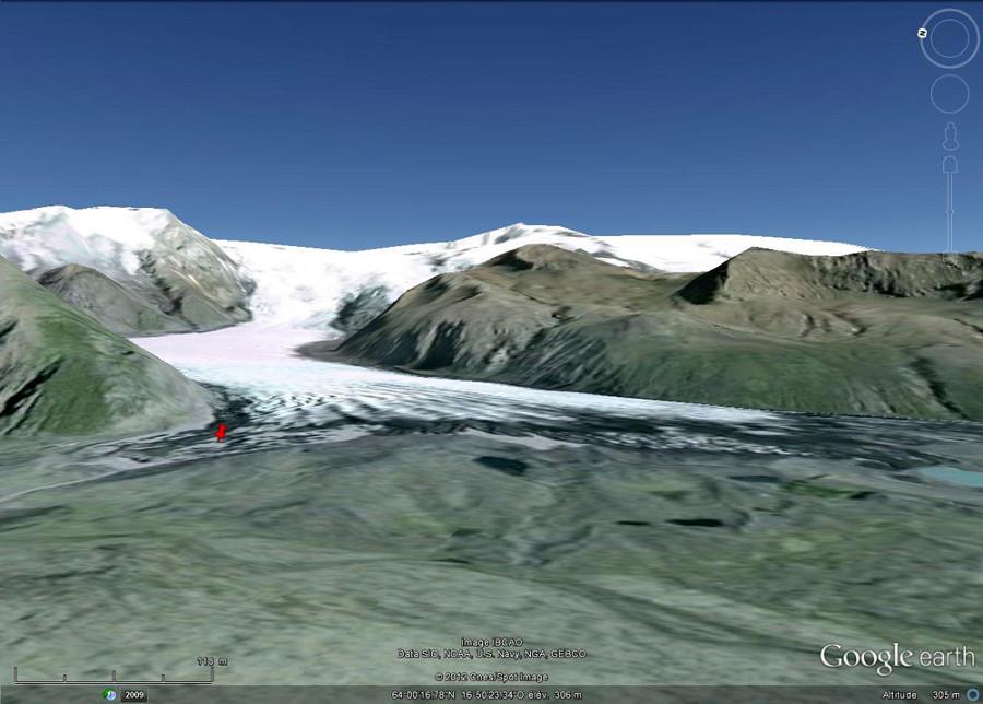 Localisation des sites de prises de vue (punaise rouge)