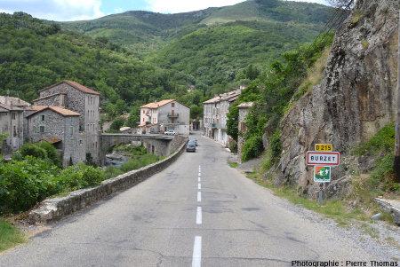 Entrée Nord du village de Burzet (Ardèche)